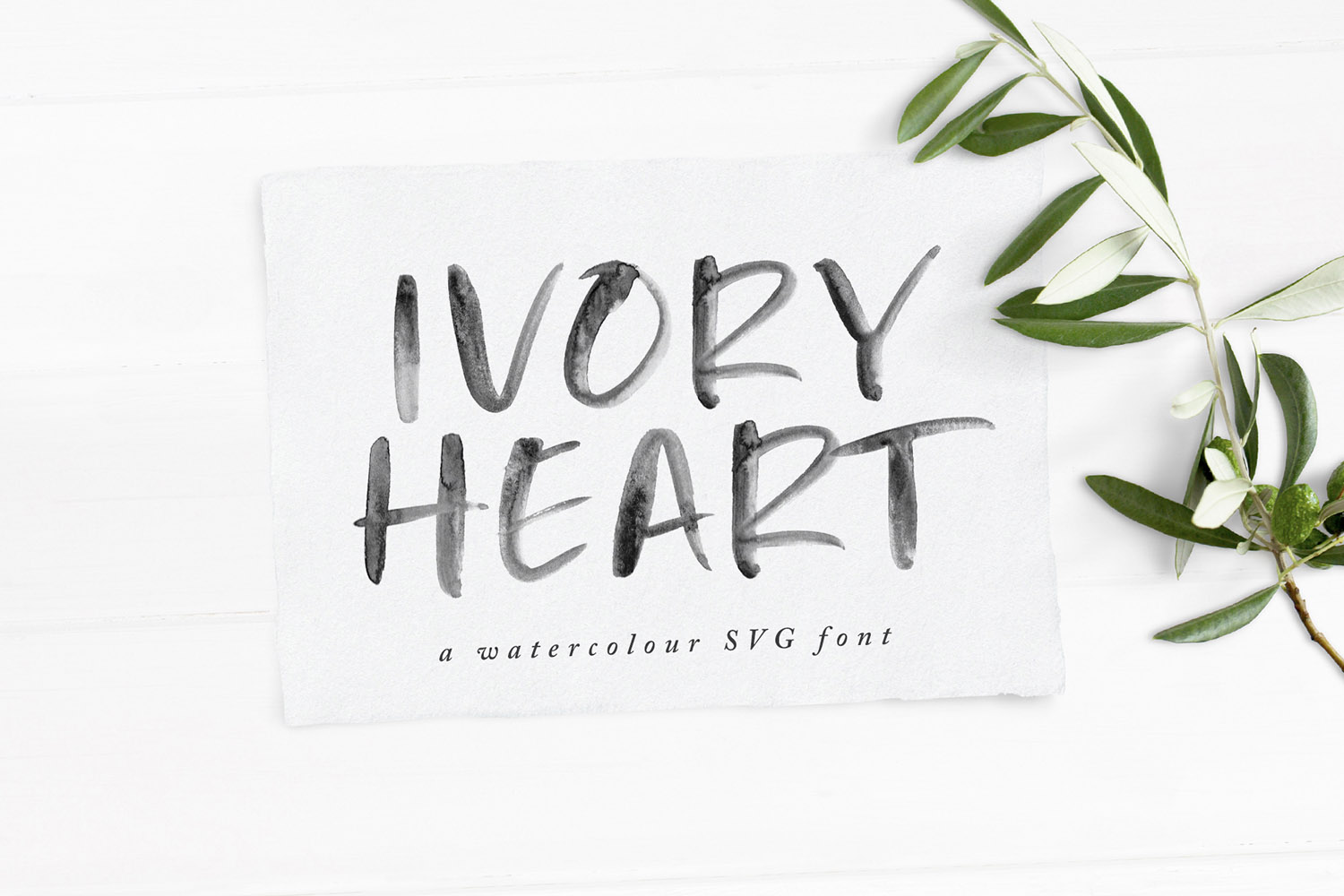 Ivory Heart Brush Free SVG Font