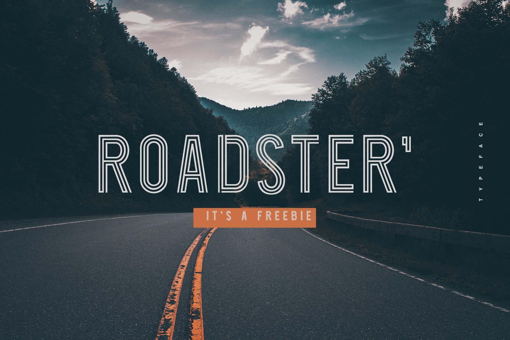 Roadster Display Free Font