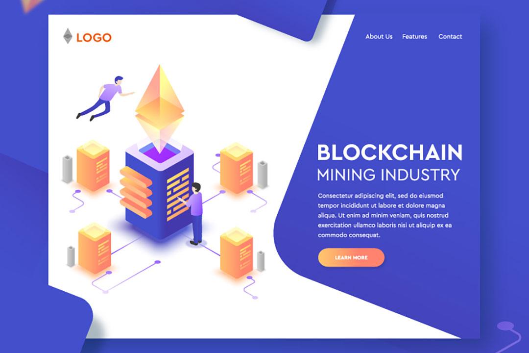 Blockchain Landing Page Free Vector