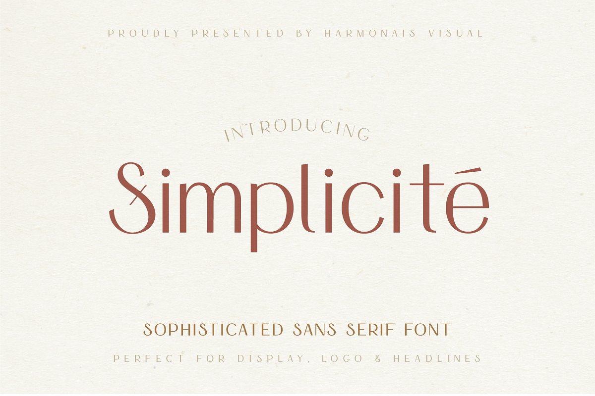 Simplicité Elegant Free Font