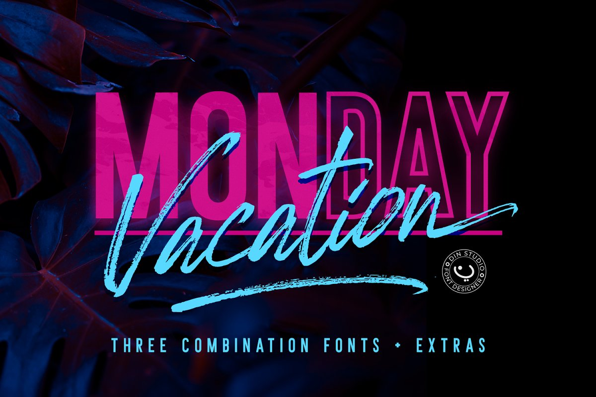 Monday Vacation Font Sample