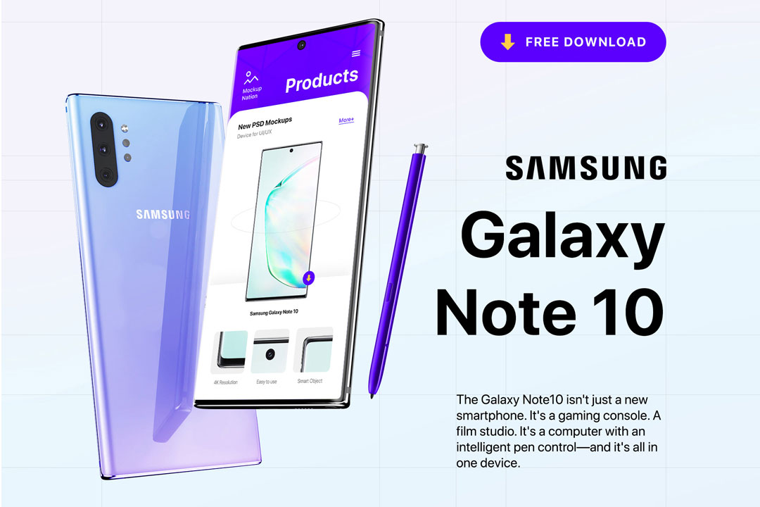Samsung Galaxy Note Mockup