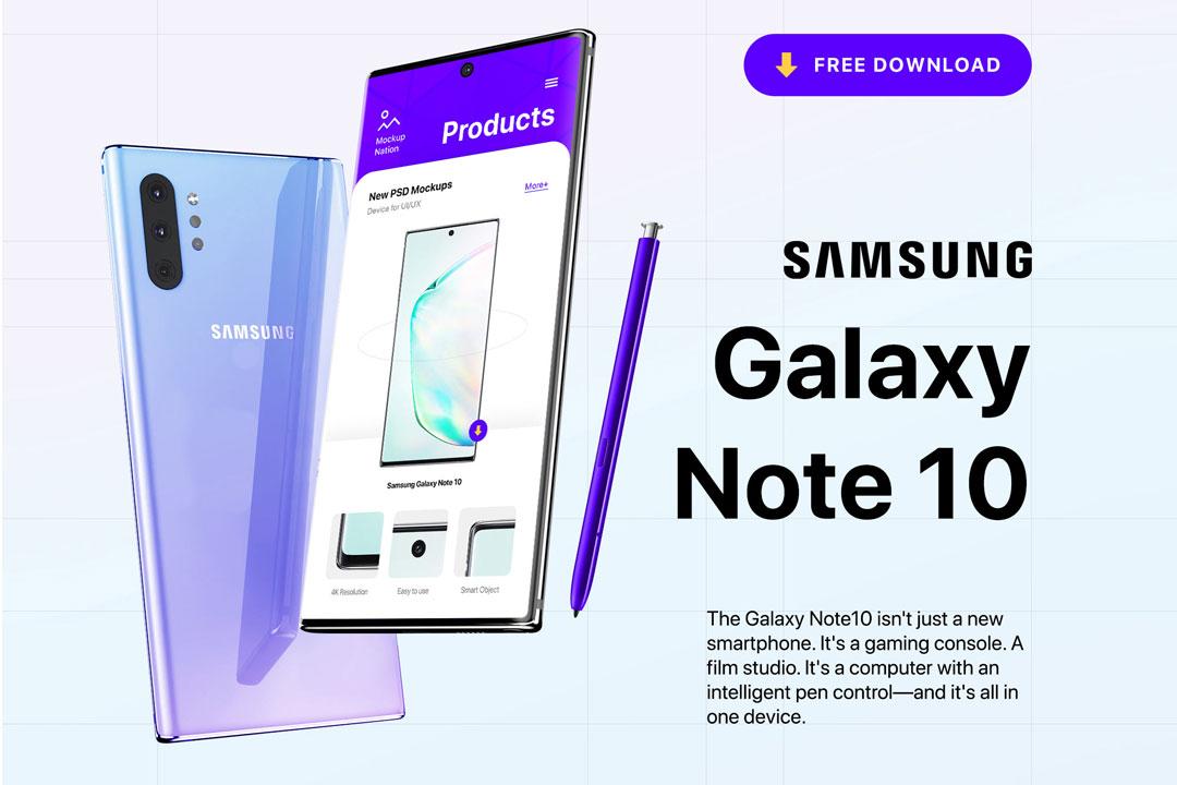 Samsung Galaxy Note Mockup