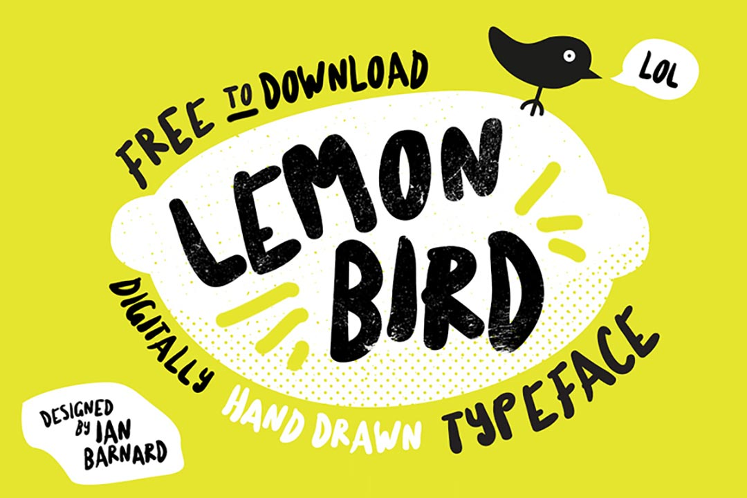 Lemon Bird Handdrawn Free Font
