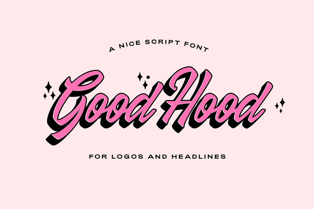 GoodHood Brush Script Font