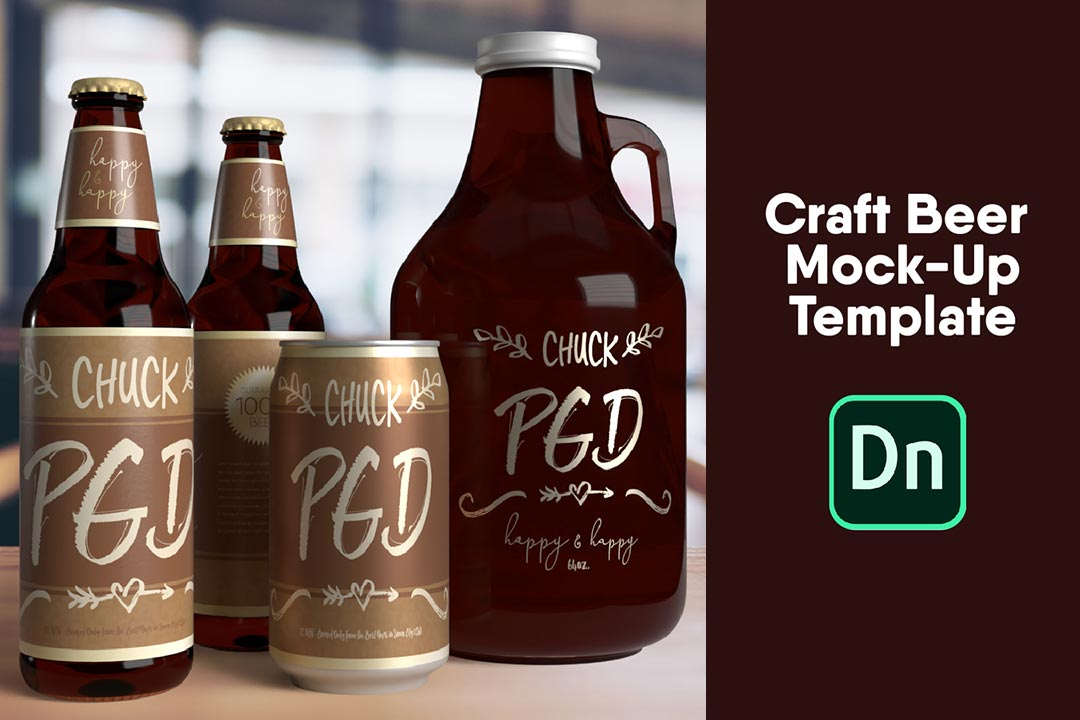 Craft Beer Mockup Template Free DN