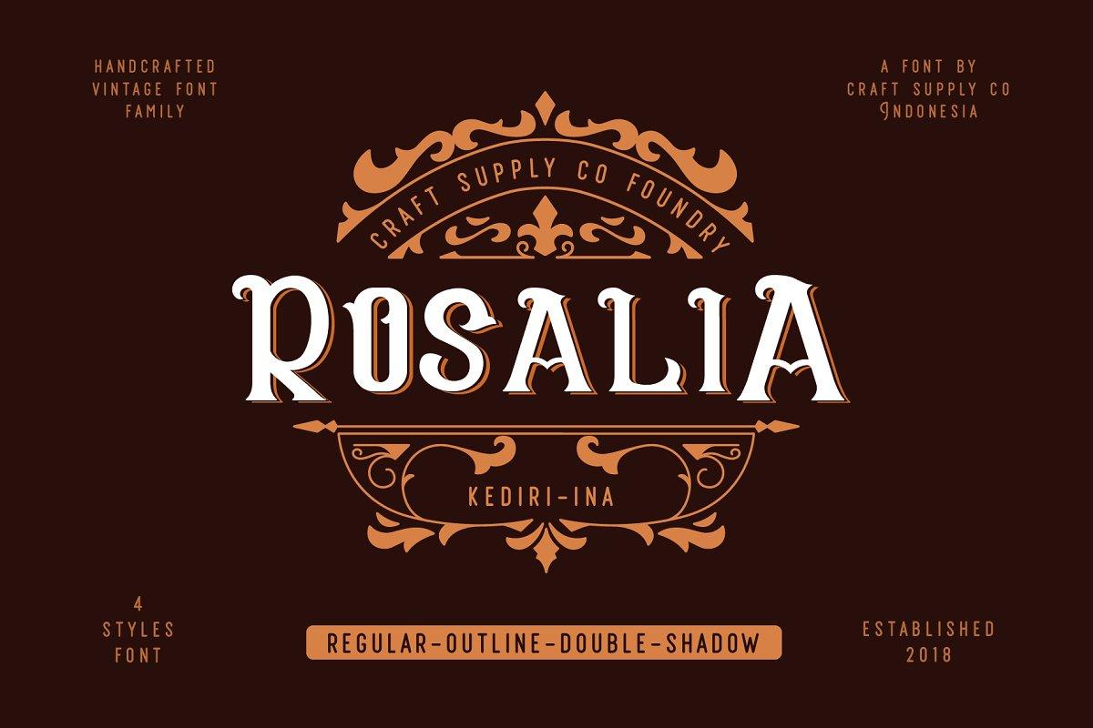 Rosalia Vintage Font